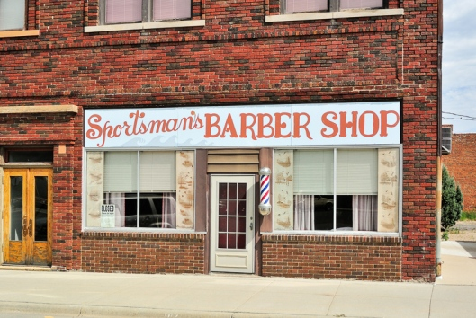 Sportsman's Barber Shop, Lake Benton, MN - July 2012