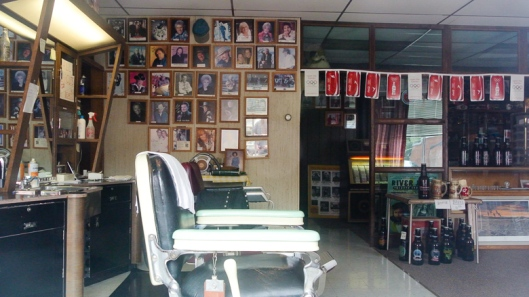 Sportsman's Barber Shop Interior, Lake Benton, MN - July 2012