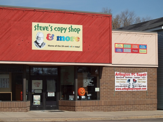 Steve's Copy Shop - October 2012